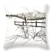 Things That Grow In The Foreground Throw Pillow