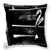 Thinking Inside The Box Throw Pillow by Sally Bauer