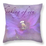 Thinking Of You Greeting Card - Rose Of Sharon Throw Pillow
