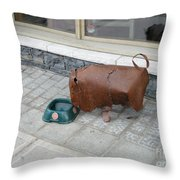 Thirsty Bison Throw Pillow