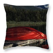 This Boathouse Has Catered To Anglers Throw Pillow