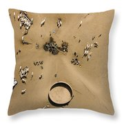 This Saharan Well Attracts Livestock Throw Pillow