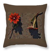 This Way And That Way Throw Pillow