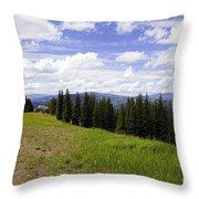 This Way To Eagle Nest - Vail Throw Pillow