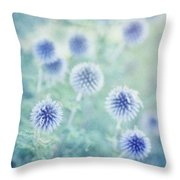 Thistle Dreams Throw Pillow by Priska Wettstein