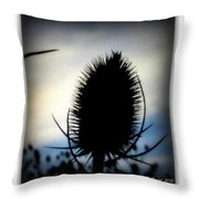 Thistle In The Sky Throw Pillow