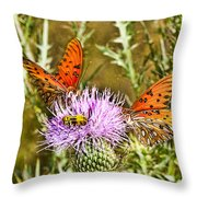 Thistlefly Throw Pillow