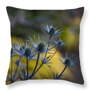 Thistles Abstract Throw Pillow