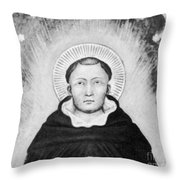 Thomas Aquinas, Italian Philosopher Throw Pillow by Science Source