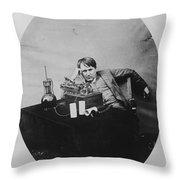 Thomas Edison, American Inventor Throw Pillow