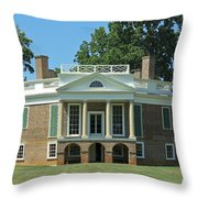 Thomas Jeffersons Poplar Forest Throw Pillow