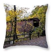 Thomas Mill Covered Bridge Over The Wissahickon Throw Pillow
