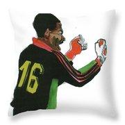 Thomas Nkono Throw Pillow