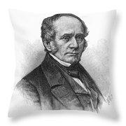 Thomas O. Larkin (1802-1858). American Merchant And California Pioneer. Wood Engraving, 19th Century Throw Pillow