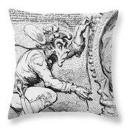 Thomas Paine Caricature Throw Pillow