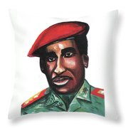 Thomas Sankara Throw Pillow