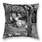 Thomas: The Swing, 1864 Throw Pillow