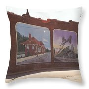 Thomasville Painted Wall Throw Pillow