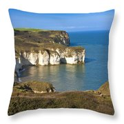 Thornwick Bay  North Yorkshire Throw Pillow