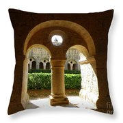 Thoronet Chapter House Throw Pillow