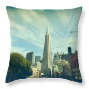 Those Sunny Downtown Days Throw Pillow