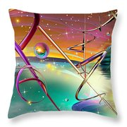 Thoughts And Threads Throw Pillow