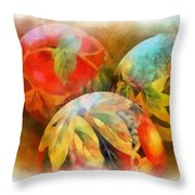 Three Balls - Watercolor Throw Pillow