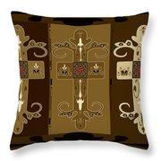 Three Crosses Throw Pillow