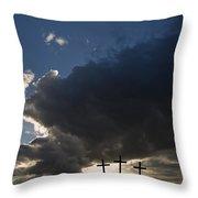 Three Crosses, West Yorkshire, England Throw Pillow