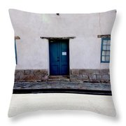 Three Doors And Two Windows Throw Pillow