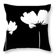Three Feeling White Throw Pillow