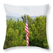 Three Flags And Kennesaw Mountain Throw Pillow
