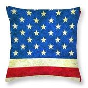 Three Flags Throw Pillow