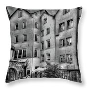 three homes in Black and White Throw Pillow