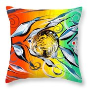 Three In A Row ... Three Throw Pillow by J Vincent Scarpace