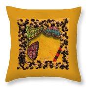 Three Mariposas Throw Pillow