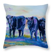 Three Mooges Throw Pillow