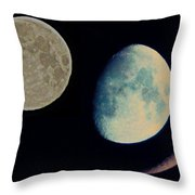Three Moon Throw Pillow