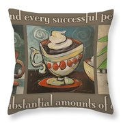 Three More Cups Poster Throw Pillow