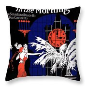 Three O'clock In The Morning Throw Pillow
