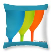 Three Of Cups Throw Pillow