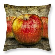 Three Red Apples Throw Pillow