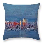 Three Times New York City Throw Pillow