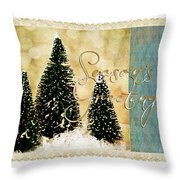 Three Trees Framed Throw Pillow