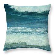 Three Waves Throw Pillow