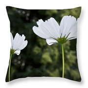Three Wildflowers Throw Pillow