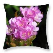 Thrift Named Joystick Lilac Throw Pillow