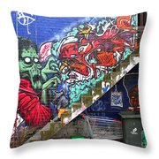 Thriller Night - Michael Jackson Throw Pillow by Corin Stone