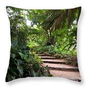 Through The Garden Throw Pillow