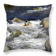Through The Giant Boulders Throw Pillow
